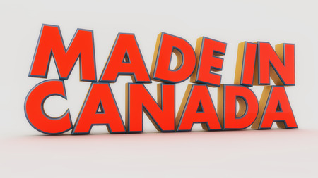 Made in canada 3d text