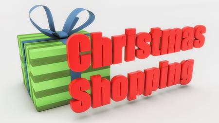 Christmas shopping and gift