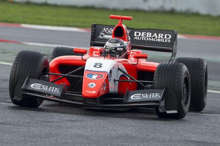 Driver Aurelien Panis.  Formula V8 3.5 at Circuit of Barcelona. Montmelo, Spain. November 5, 2016