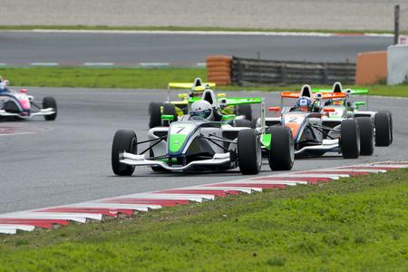 Pilote Aleks Karkosik. Championnat de France F4 au Circuit de Barcelone. Montmelo, Espagne. 5 novembre 2016 Éditoriale