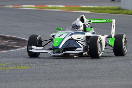 Pilote Aleks Karkosik. Championnat de France F4 au Circuit de Barcelone. Montmelo, Espagne. 5 novembre 2016