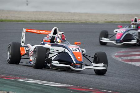 Conducteur Michael Benyahia. Championnat de France F4 au Circuit de Barcelone. Montmelo, Espagne. 6 novembre 2016