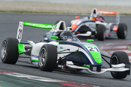 Conducteur Jean-Baptiste Mela. Championnat de France F4 au Circuit de Barcelone. Montmelo, Espagne. 6 novembre 2016 Éditoriale