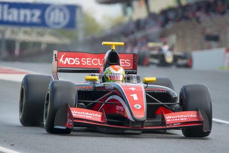 Driver Louis Deletraz. Formula V8 3.5 at Circuit of Barcelona. Montmelo, Spain. November 6, 2016