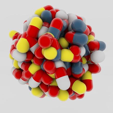 3d medicine capsules