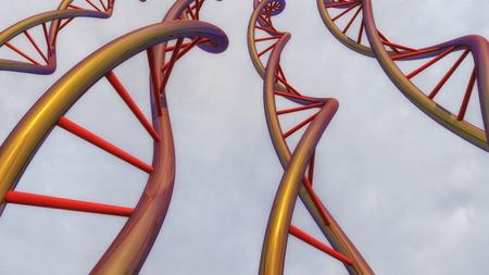 DNA chain Stock Photo