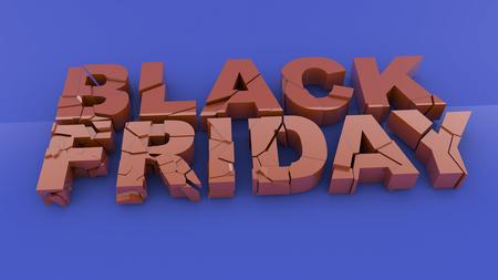 specials: Black friday 3D text Stock Photo