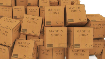 Cardboard made in china Stock Photo