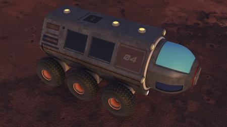 rover: Planet exploration vehicle Stock Photo