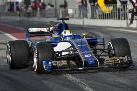 ericsson: Driver Ericsson.  Team Sauber. Formula One Test Days at Circuit de Catalunya. Montmelo, Spain. March 07, 2017