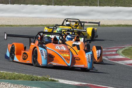 Driver Eric Tessier. Mercure  Racing Team. Challenge Funyo V de V Endurance Series at Circuit de Barcelona. Montmelo, Spain. March 18, 2017