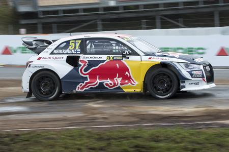 Toomas Heikkinen.  Barcelona FIA World Rallycross Championship at Circuit of Barcelona. Montmelo, Spain. April 01, 2017