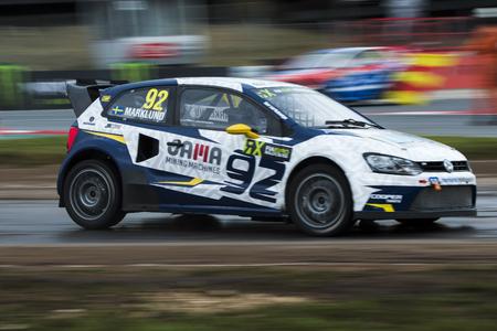 Anton Marklund.  Barcelona FIA World Rallycross Championship at Circuit of Barcelona. Montmelo, Spain. April 01, 2017 Editorial