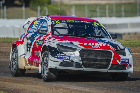 Tamas karai. Barcelona FIA World Rallycross Championship at Circuit of Barcelona. Montmelo, Spain. April 02, 2017