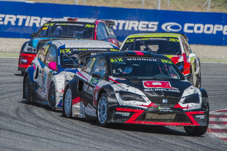 Rene Muennich. Barcelona FIA World Rallycross Championship at Circuit of Barcelona. Montmelo, Spain. April 02, 2017 Editorial
