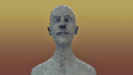 3d monster zombie portrait