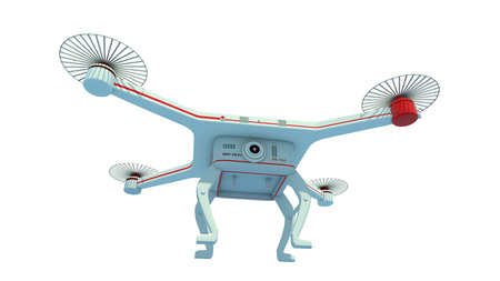 3d rendering flying Drone Stock Photo