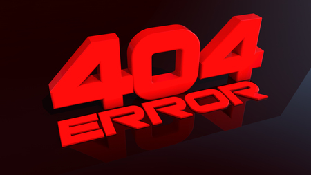 Error 404 3d red sign Stock Photo