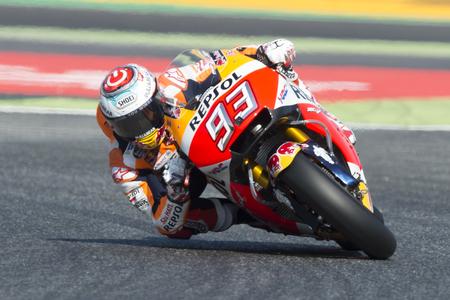 repsol honda: Driver Marc Marquez. Repsol Honda Team. Monster Energy Grand Prix of Catalonia MotoGP at Circuit of Catalonia. Barcelona, Spain, June 10, 2017