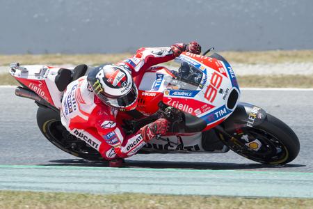superbike: Driver Jorge Lorenzo. Ducati Team. Monster Energy Grand Prix of Catalonia MotoGP at Circuit of Catalonia. Barcelona, Spain, June 10, 2017