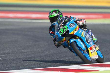 Driver Enea Bastianini. Estrella Galicia Team. Moto3. Monster Energy Grand Prix of Catalonia MotoGP at Circuit of Catalonia. Barcelona, Spain, June 10, 2017