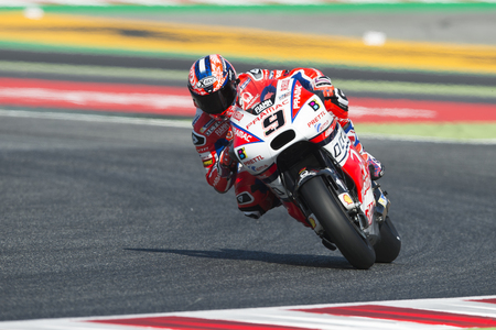 Driver Danilo Petrucci. Octo Pramac Team. Monster Energy Grand Prix of Catalonia MotoGP at Circuit of Catalonia. Barcelona, Spain, June 10, 2017 Editorial