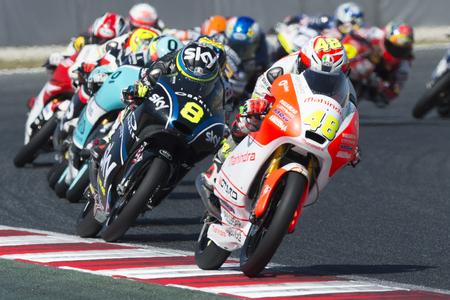 Driver LORENZO DALLA PORTA. Mahindra Team. Moto3. Monster Energy Grand Prix of Catalonia MotoGP at Circuit of Catalonia. Barcelona, Spain, June 11, 2017