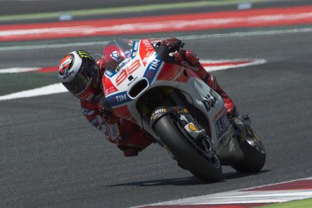 Driver Jorge Lorenzo. Ducati Team. Monster Energy Grand Prix of Catalonia MotoGP at Circuit of Catalonia. Barcelona, Spain, June 11, 2017