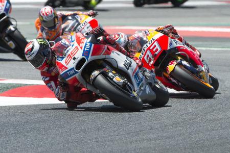 superbike: Driver Jorge Lorenzo. Ducati Team. Monster Energy Grand Prix of Catalonia MotoGP at Circuit of Catalonia. Barcelona, Spain, June 11, 2017