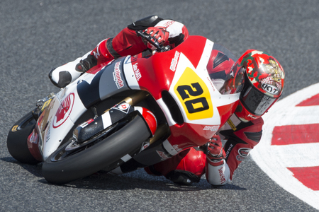 Driver Ekky Pratama, Dimas. Moto3. Astra Honda Team. FIM CEV Repsol International Championship. Barcelona, Spain - June 17, 2017 Editorial