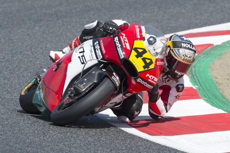 Driver Odendaal, Steven. Moto3. NTS SPORTSCODE Team. FIM CEV Repsol International Championship. Barcelona, Spain - June 17, 2017 Editorial