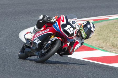 superbike: Driver Florido Sánchez, Rufino. Moto3. Mahindra Team. FIM CEV Repsol International Championship. Barcelona, Spain - June 17, 2017 Editorial