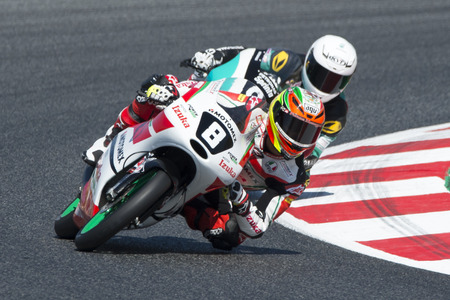 Driver Martínez Abrego Gabriel. Moto3. Motomex Team. FIM CEV Repsol International Championship. Barcelona, Spain - June 17, 2017 Editorial