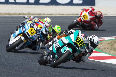 Driver Cardus Gonzalez, Ricky. Moto2. Stylobike Team. FIM CEV Repsol International Championship. Barcelona, Spain - June 18, 2017 Editorial