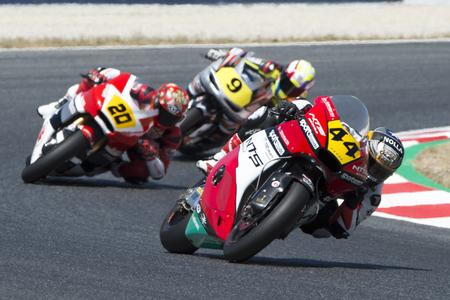 Driver Odendaal, Steven. Moto2. NTS Sportcode Team. FIM CEV Repsol International Championship. Barcelona, Spain - June 18, 2017