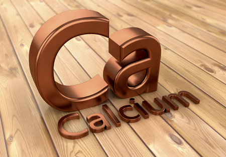3d rendering. Calcium 3d sign text Stock Photo