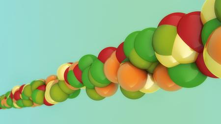 3d rendering, Molecule concept design