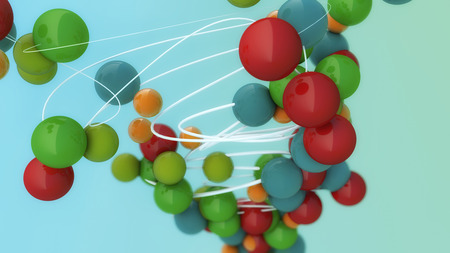 3d rendering. Colored spheres background