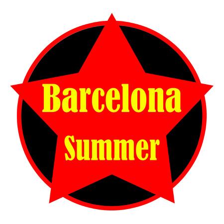 Barcelona text illustration