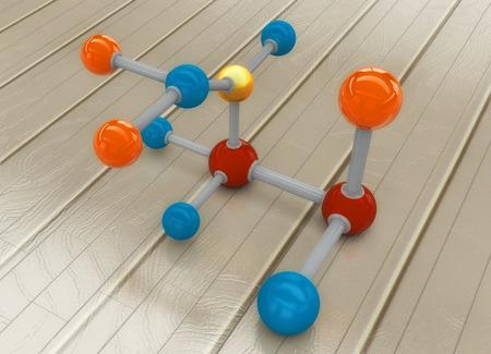 3d rendering, Molecule design