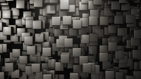 Abstract cubes background and light Stock Photo