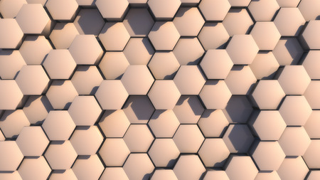 3d rendering. Abstract hexagon geometry background
