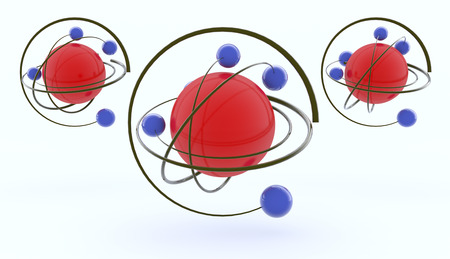 3d rendering, Molecule design and white background