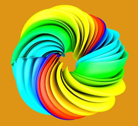 3d render Abstract colorful background