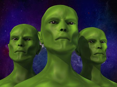 3d render 3d alien portrait Stock Photo