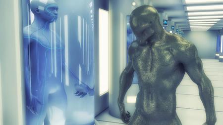3d render monster zombie alien Stock Photo
