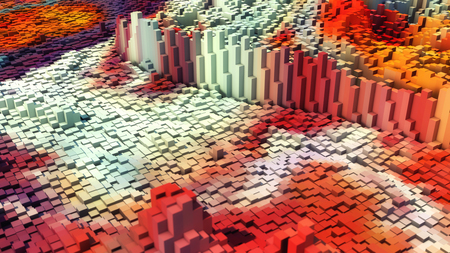 3D rendering. Abstract colorful background Stock Photo
