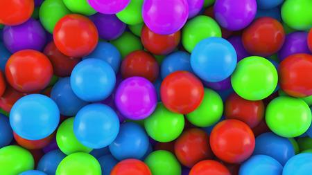 3D render Colorful spheres background