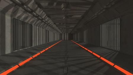 3drender futuristic interior jail Stock Photo