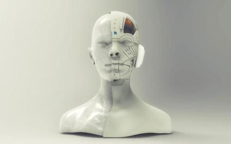 3d render. Head Human shattered